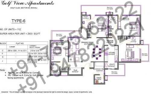 4 BHK (2933 Sq feet)