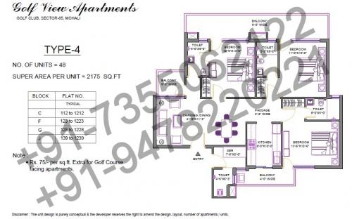3 BHk (2175 Sq feet)