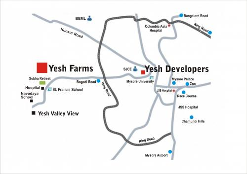 Yesh Farms Location Map